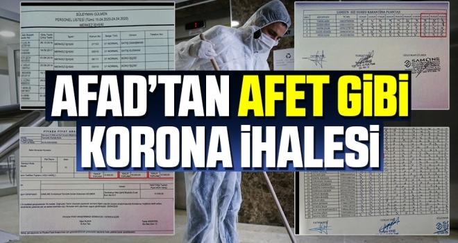 AFAD'tan Afet Gibi Korona İhalesi
