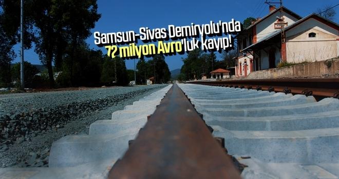 Samsun-Sivas Demiryolu'nda 72 milyon Avro'luk kayıp!