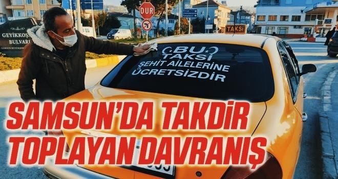 Samsun'da Şehit ailelerine ücretsiz taksi