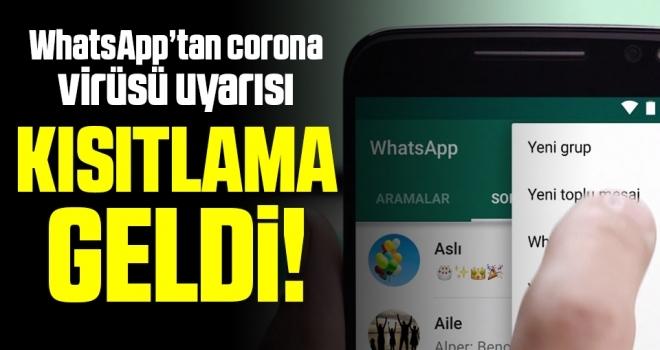 Son dakika… WhatsApp'tan corona virüsü uyarısı: Sakın yapmayın
