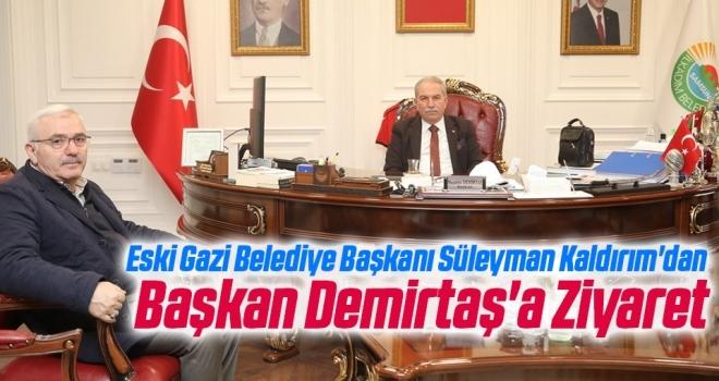 Eski Gazi Belediye Başkanı Süleyman Kaldırım'dan İlkadım Belediye Başkanı Necattin Demirtaş'a Ziyaret
