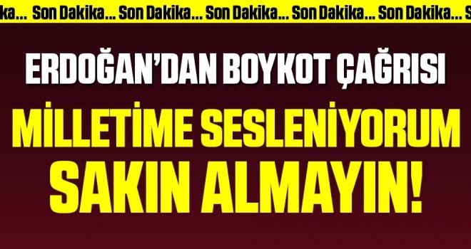 Son dakika… Erdoğan'dan Fransız mallarına boykot çağrısı