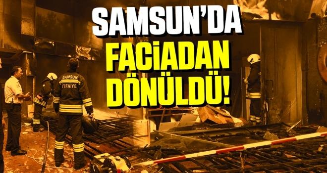Samsun'da Faciadan dönüldü
