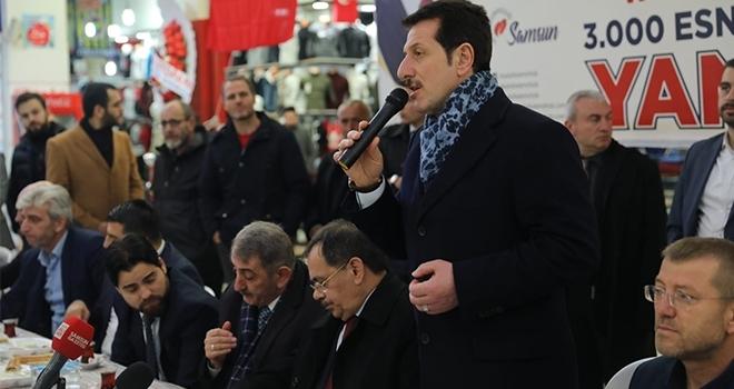 Cumhur İttifakı Adayı İlkadım Belediye Başkanı Erdoğan Tok: Esnafındestekçisiyiz