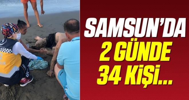 Samsun'da Cankurtaranlar hafta sonu 34 kişiyi boğulmaktan kurtardı