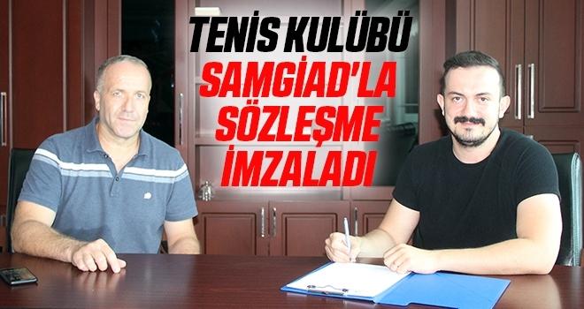 Tenis Kulübü SAMGİAD'la Sözleşme İmzaladı