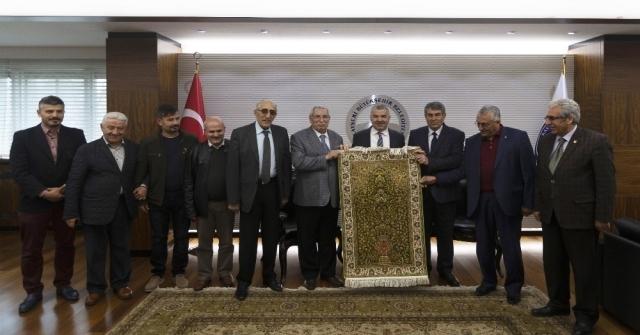 Şoförler Ve Otomobilciler Odası Başkanı Ali Ateş Ve Yönetimi Başkan Çeliki Ziyaret Etti