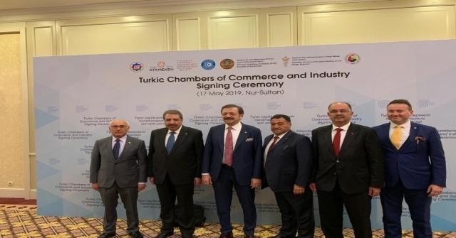 Itso Meclis Başkanı Şahlan, Kazakistanda Türk Konseyi İmza Törenine Katıldı