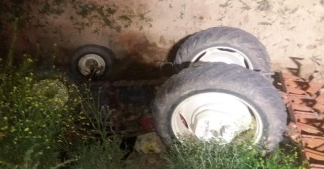 Başkentte Traktör Şarampole Uçtu: 1 Ölü