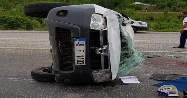 Bingölde Trafik Kazası: 1 Ölü,3 Yaralı