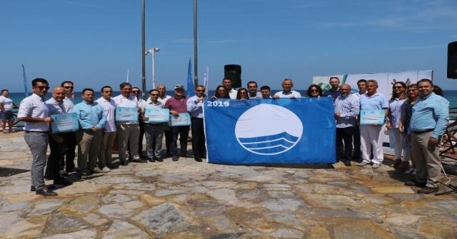 Kuşadasının 2019 Yılı Mavi Bayrakları Dalgalanmaya Başladı