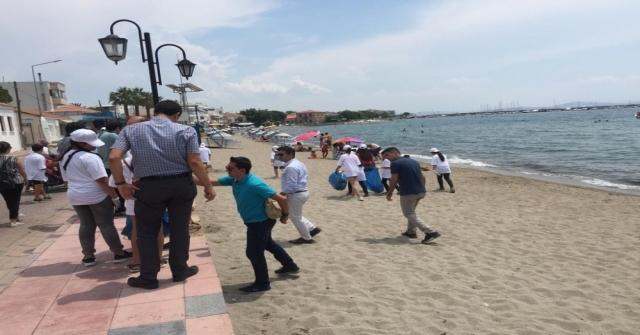 Çandarlı Kıyılarından 150 Kilogram Atık Çıktı