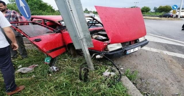 Samsunda Trafik Kazası: 3 Yaralı
