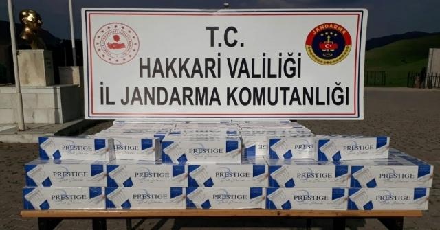 Yüksekovada 2 Bin Paket Kaçak Sigara Ele Geçirildi