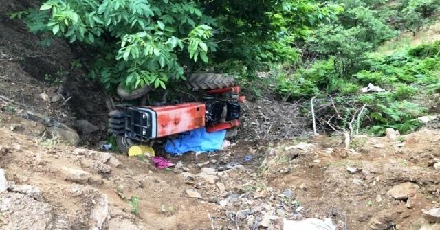 Sarıgölde Traktör Devrildi: 1 Ölü,1 Yaralı
