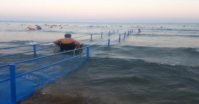 Mersin Plajları Engel Tanımıyor