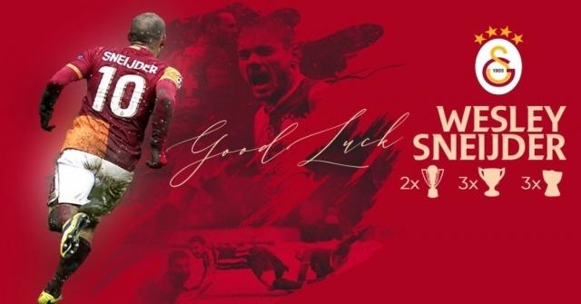 Galatasaraydan Futbolu Bırakan Wesley Sneijdere Teşekkür