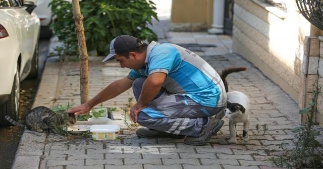 Bucanın Koca Yürekli Temizlik Personeli Sokaklara Sevgi Ekiyor