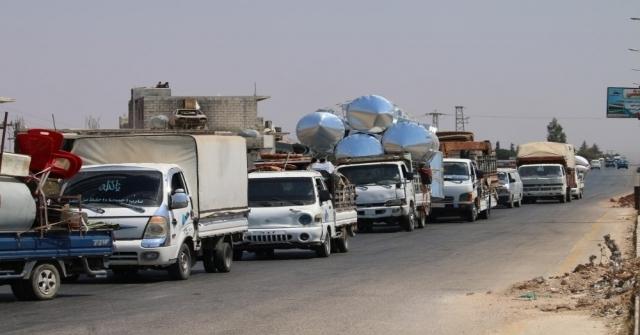 İdlibde Hava Saldırıları Nedeniyle Göç Başladı