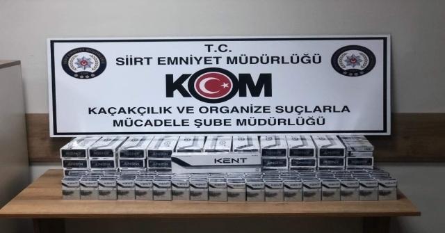 Siirtte 750 Paket Kaçak Sigara Ele Geçirildi