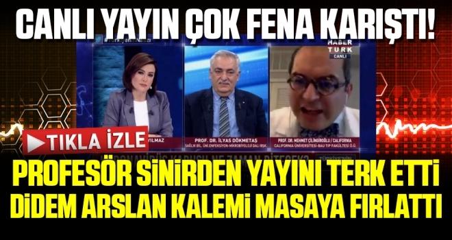 Büyük gerginlik! Prof Dr. Çilingiroğlu sinirden yayını terk etti, Didem Arslan kalemi masaya fırlattı