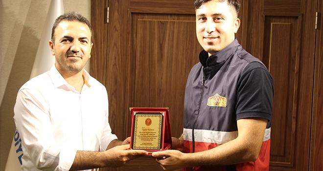 Tokat'ta İtfaiye erlerine anlamlı ödül