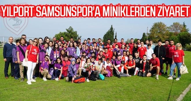 Yılport Samsunspor'a Miniklerden Ziyaret