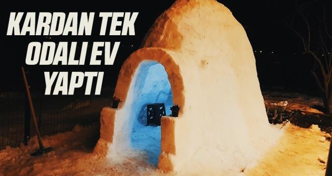 Samsun'da Kardan tek odalı ev yaptı