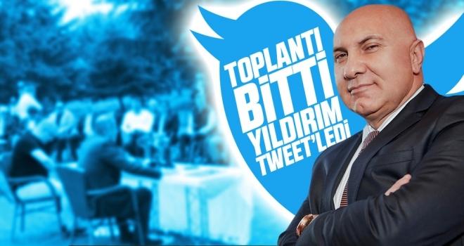 Toplantı bitti, Yıldırım 'tweet'ledi