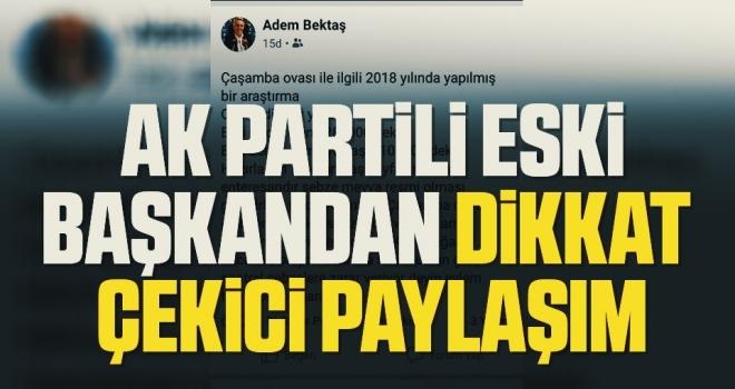 AK Partili eskibaşkandan dikkatçekici paylaşım