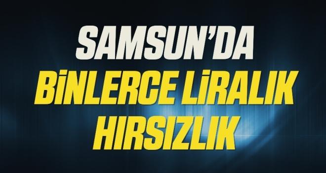 Samsun'da Binlerce Liralık Hırsızlık