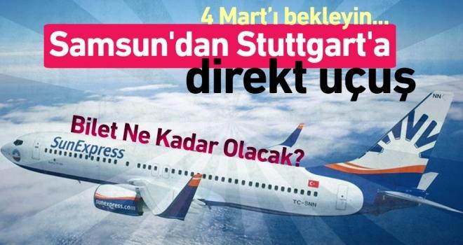 Samsun'dan Stuttgart'a Direkt Uçuş 4 Mart'ta Başlıyor