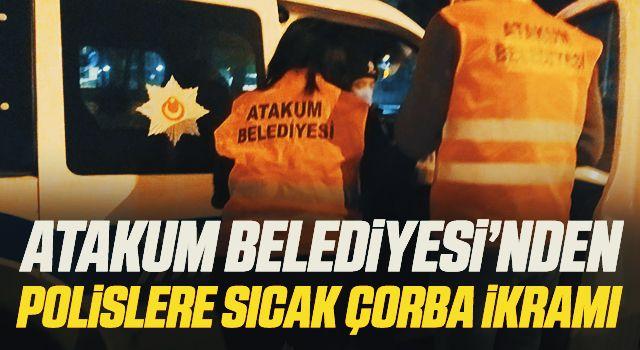 Atakum Belediyesi'nden polislere sıcak çorba ikramı