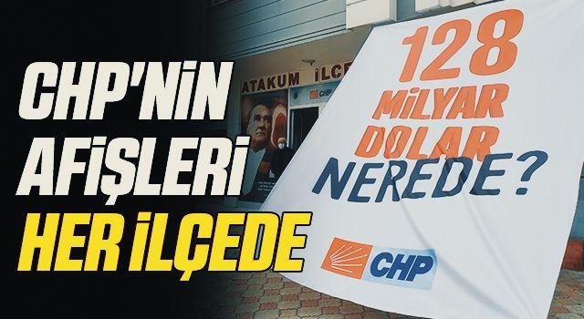 CHP'nin afişleriher ilçede