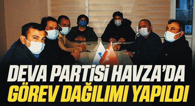 DEVA Partisi Havza İlçe yönetiminde görev dağılımı