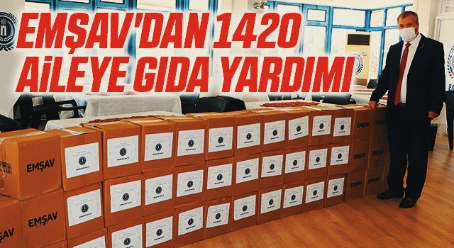EMŞAV'dan 1420 aileye gıda yardımı