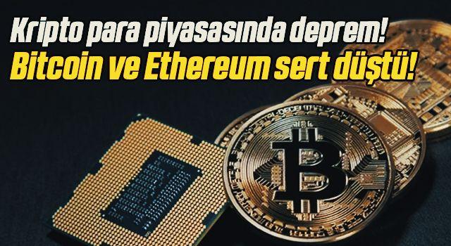 Kripto para piyasasında deprem! Bitcoin ve Ethereum sert düştü!