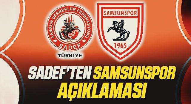 Türkiye SADEF'ten Samsunspor Açıklaması