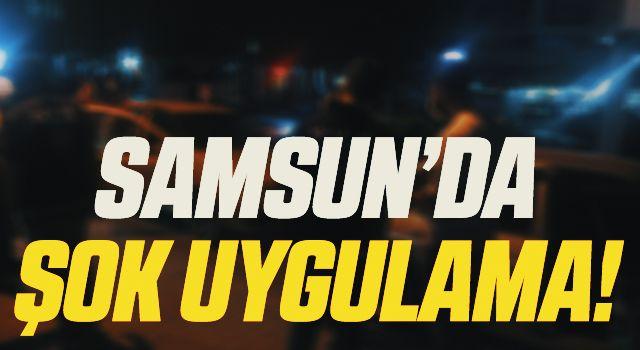 """Samsun'da aranan 28 kişi """"şok uygulama""""da yakalandı"""