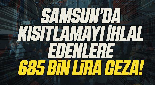 Samsun'da sokağa çıkma kısıtlamasını ihlal eden 403 kişiye 685 bin 661 lira ceza kesildi