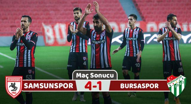 Samsunspor: 4 Bursaspor: 1 (Maç Sonucu)