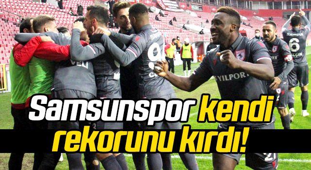 Samsunspor kendi rekorunu kırdı!