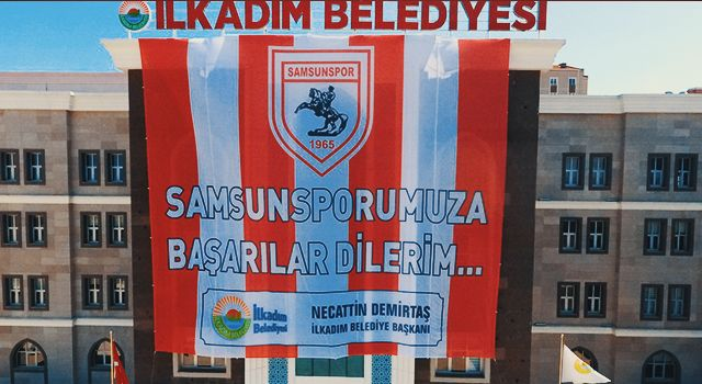 İlkadım Samsunspor Bayraklarıyla Donatıldı