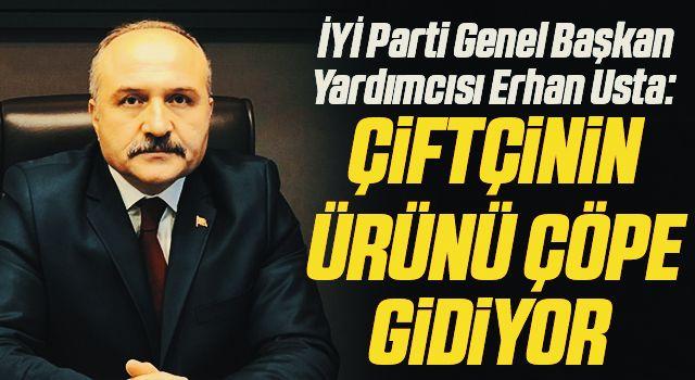 İYİ Parti Genel Başkan Yardımcısı Erhan Usta: Çiftçinin ürünüçöpe gidiyor