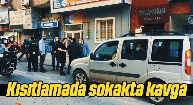 Samsun'da Kısıtlamada sokakta kavga