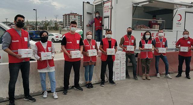 Samsun'da Kızılay'dan 10 bin hijyen seti