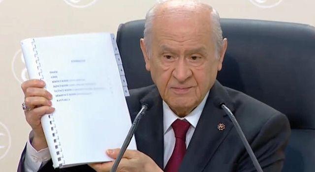 Son Dakika: Bahçeli'den 100 maddelik yeni anayasa önerisi: Hazırlık aşaması tamamlanmıştır