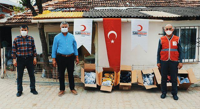 Türk Kızılay Havza İlçe Koordinatörlüğünden 650 çift ayakkabı yardımı