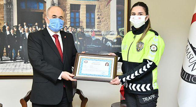 Vali Dağlı'dan polis ve jandarma personeline başarı belgesi