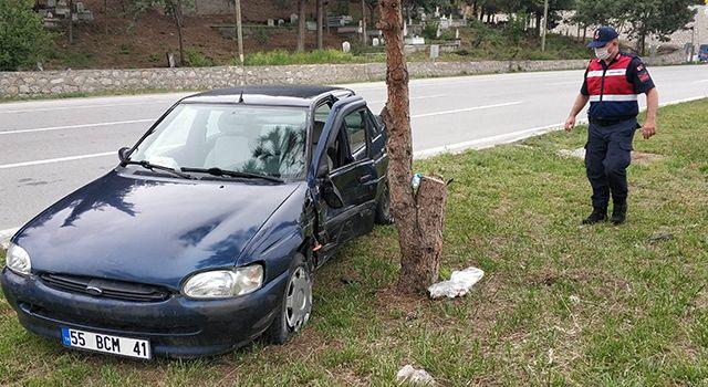Aracının muayenesinden dönerken kaza yaptı: 1 yaralı